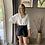 Thumbnail: High waist Maud short grijs