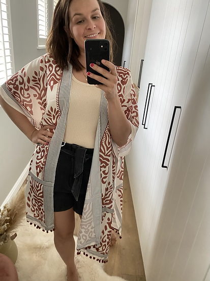 Kimono bruin