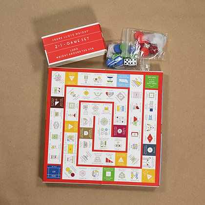 Frank Lloyd Wright 2 in 1 game set.