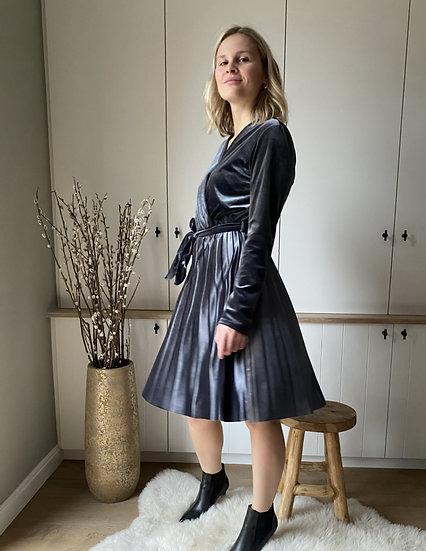 Velvet dress - grijs