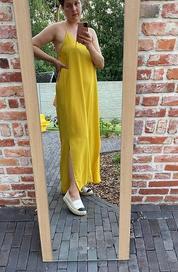 Lovely maxi dress geel