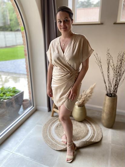 Stunning Wrap Dress Beige