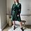 Thumbnail: Velvet dress - groen