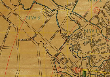 Old map showing Burnside Road in Christchurch