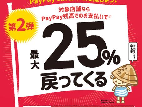 がんばれ桑名!!最大25%戻ってくるキャンペーン第2弾