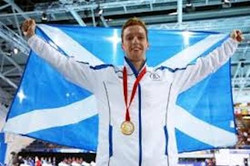 Dan Wallace with medal