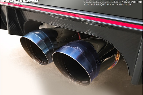 J'S RACING FK8 CIVIC SUS Exhaust Plus Dual 70RS