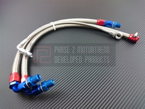 S13 SR20DET - Steel Braided Turbo Line Kit