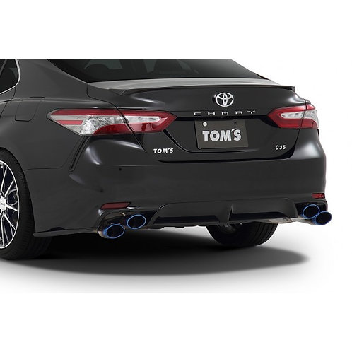 TOM'S Racing- Stainless Exhaust System for 2018+ Toyota Camry (Titanium- Quad Ti