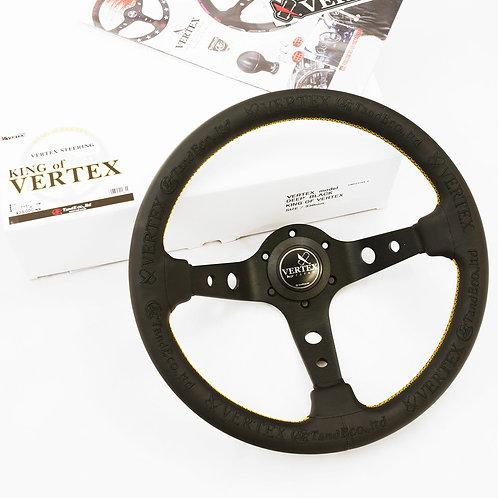 """Vertex """"King"""" 330mm Steering Wheel in Black Suede"""