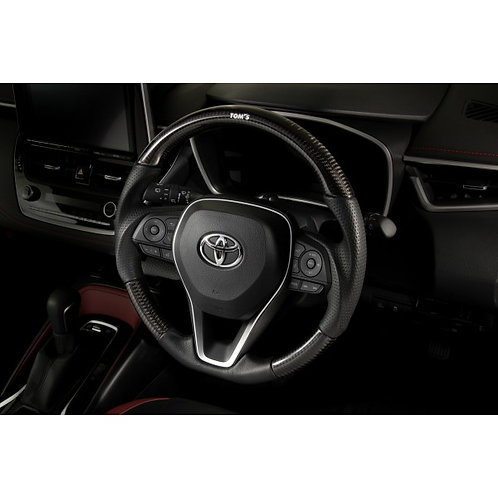 TOM'S Racing- Carbon Steering Wheel for 2019+ Toyota Corolla Hatchback