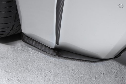 TOM'S Racing- Carbon Rear Bumper Side Diffuser for 2015+ Lexus RCF