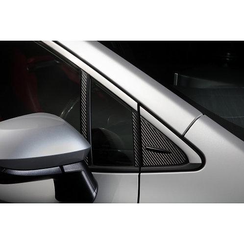 TOM'S Racing- Carbon Sheet (A-Pillar) for 2019+ Toyota Corolla Hatchback