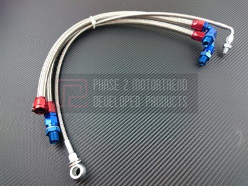 S13 SR20DET - Steel braid line kit - TOP MOUNT