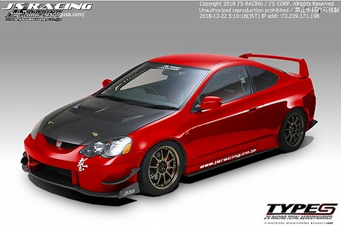 J'S RACING RSX DC5 Street Ver. Total Aero System CFRP (early model)