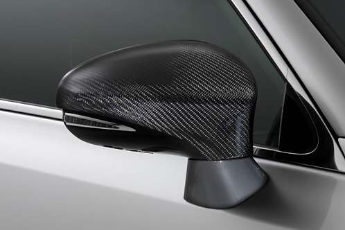 TOM'S Racing- Carbon Fiber Mirror Covers for Lexus (CT, GS, GSF, IS, NX, RC, RCF