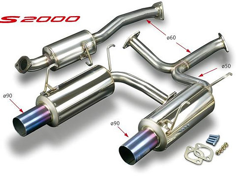 TODA Racing Honda S2000 High Power Exhaust System