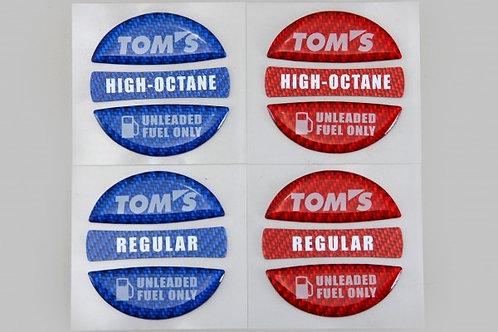 TOM'S Racing- Fuel Cap Garnish Sticker [High-Octane] in (Blue)