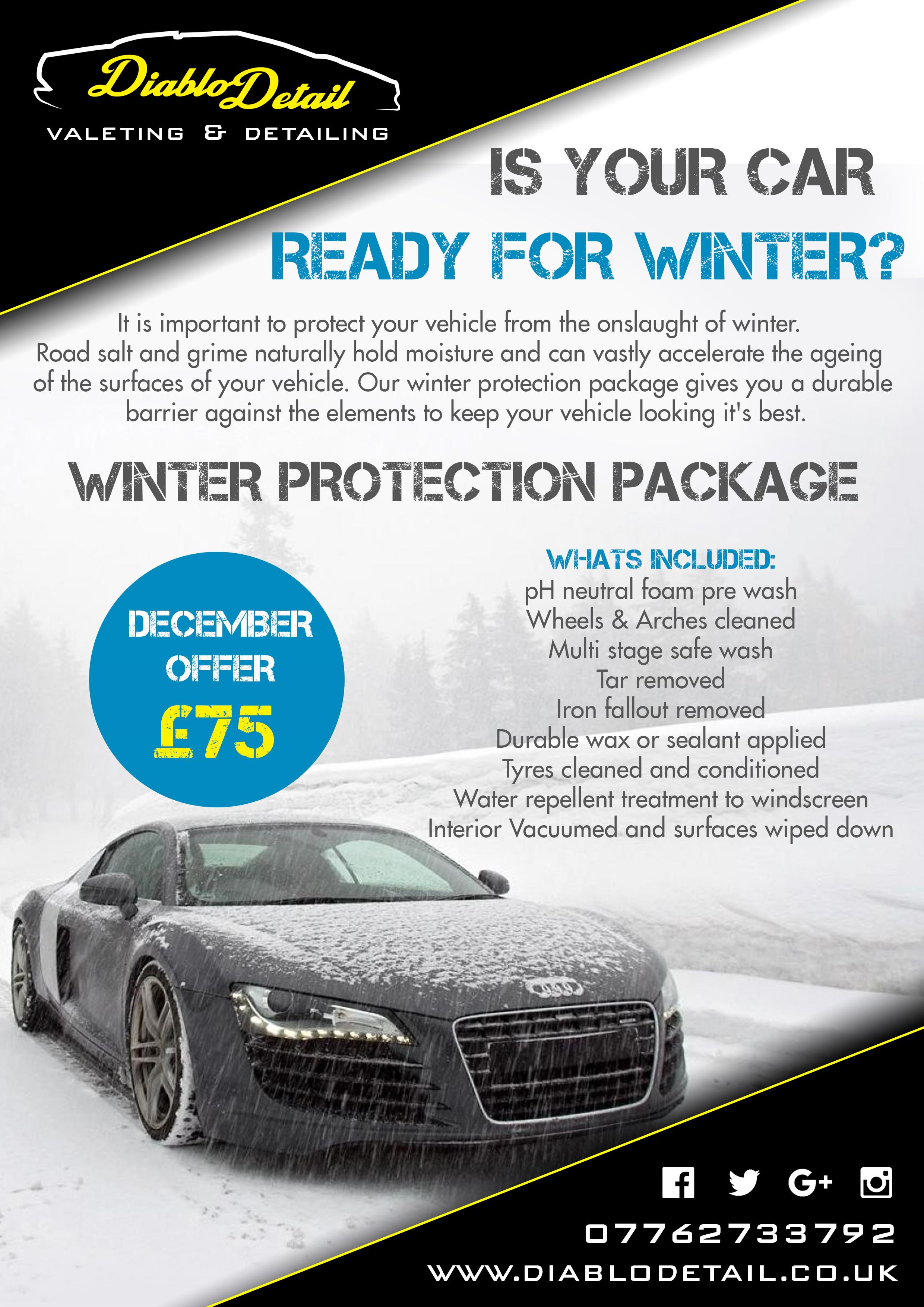 Winter Protection Package Diablo Detail Valeting Detailing