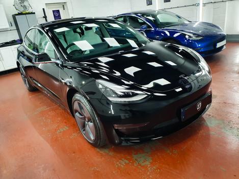 Tesla Paint Correction Ceramic Coating