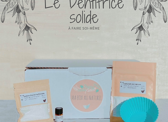 Box DIY - Dentifrice solide BIO