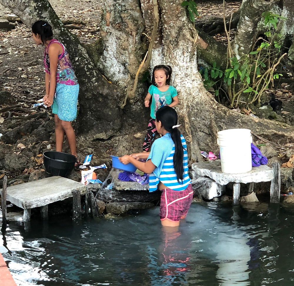 Laundry on Lake Izabal.