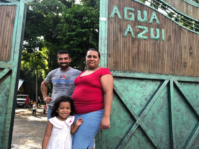 New member of Casa Agua Azul at the Entrance
