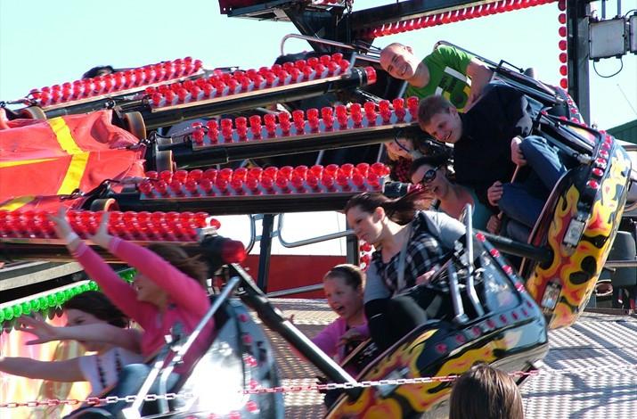 Children having fun at the fair