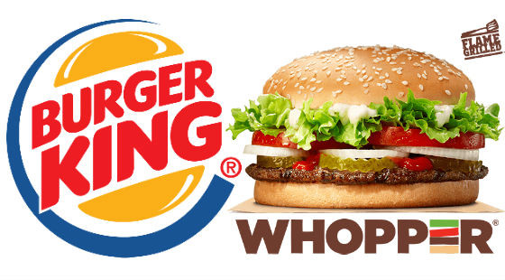 Burger King Whopper and logo