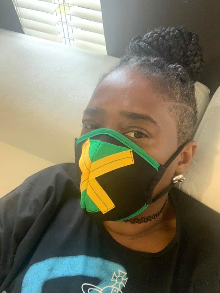 Face masks from I.c.r.8clothing on Insta