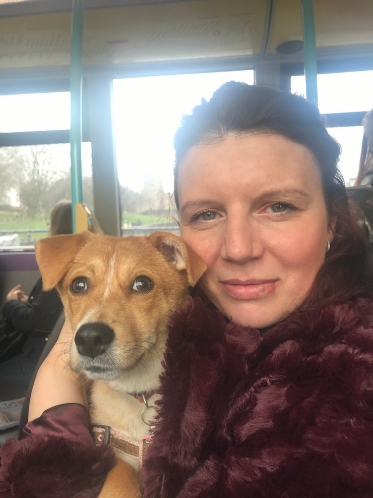 Broke in Bristol founder Jackie  with her rescue dog