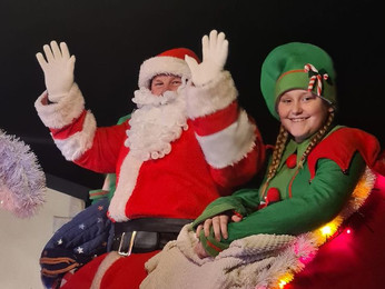The Santa Float is coming to town!