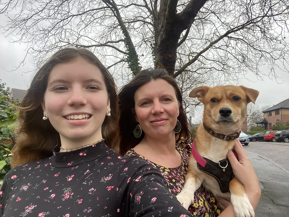 Me, my daughter and my dog
