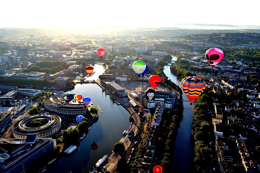 Bristol balloons flying over the sky