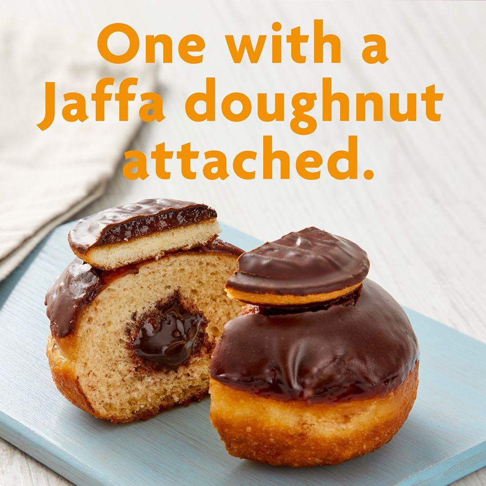 Morrisons new jaffa cake doughnuts