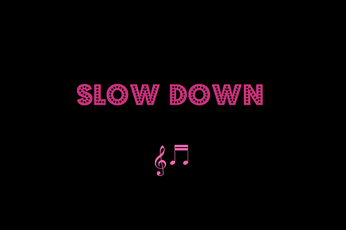 SLOW DOWN as sung by NICHOLE NORDERMAN