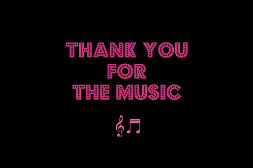 THANK YOU FOR THE MUSIC as sung by ABBA
