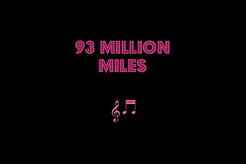 93 MILLION MILES as sung by JASON MRAZ