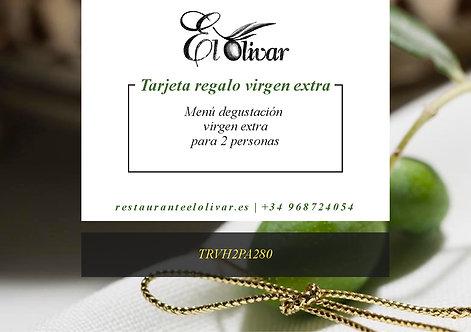 Tarjeta Regalo Menú Virgen Extra para 2 personas