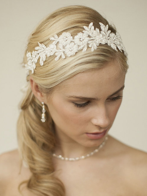 Lace Applique Wedding Headband