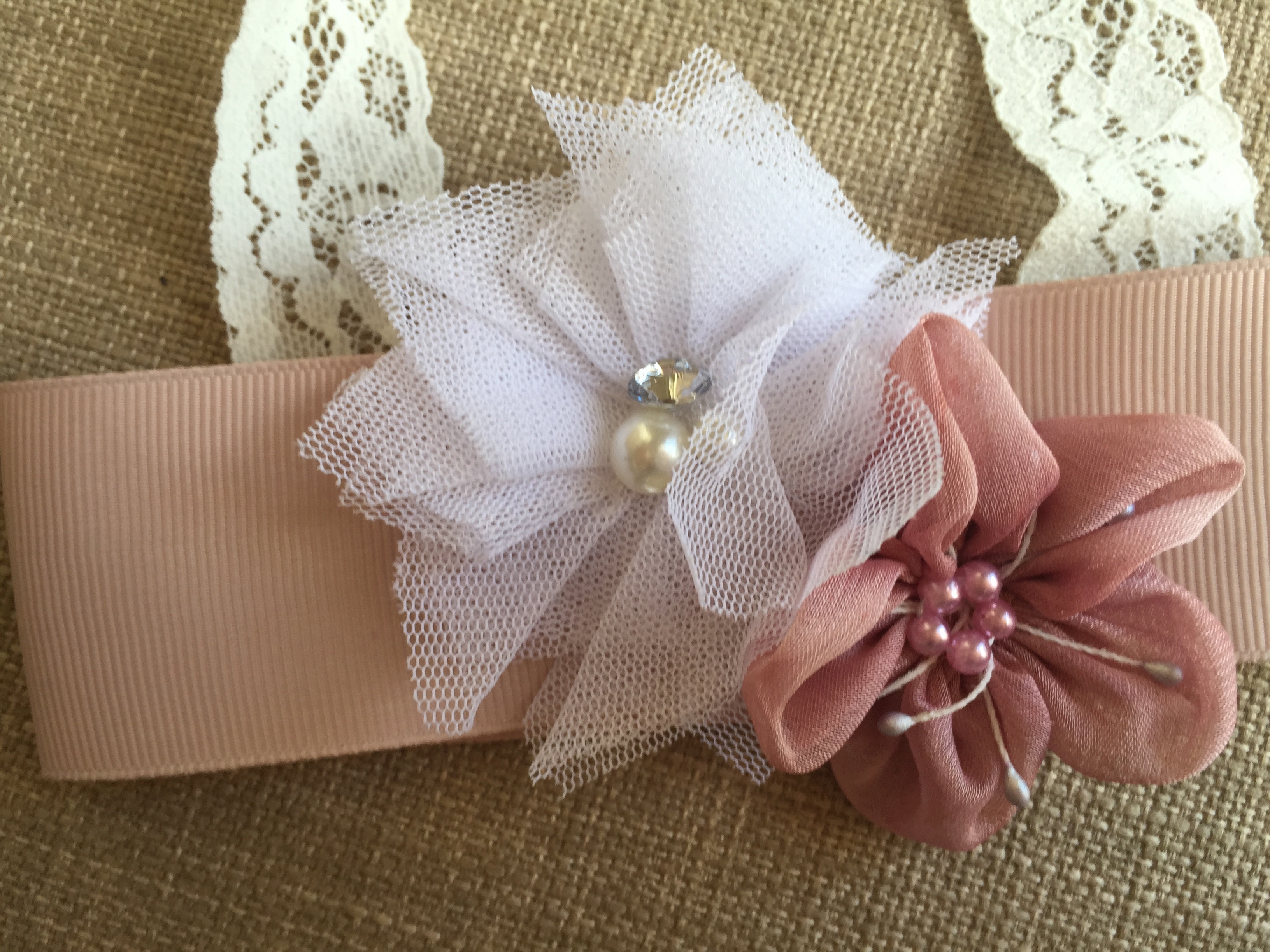 Brianna Headband in Dusty Pink