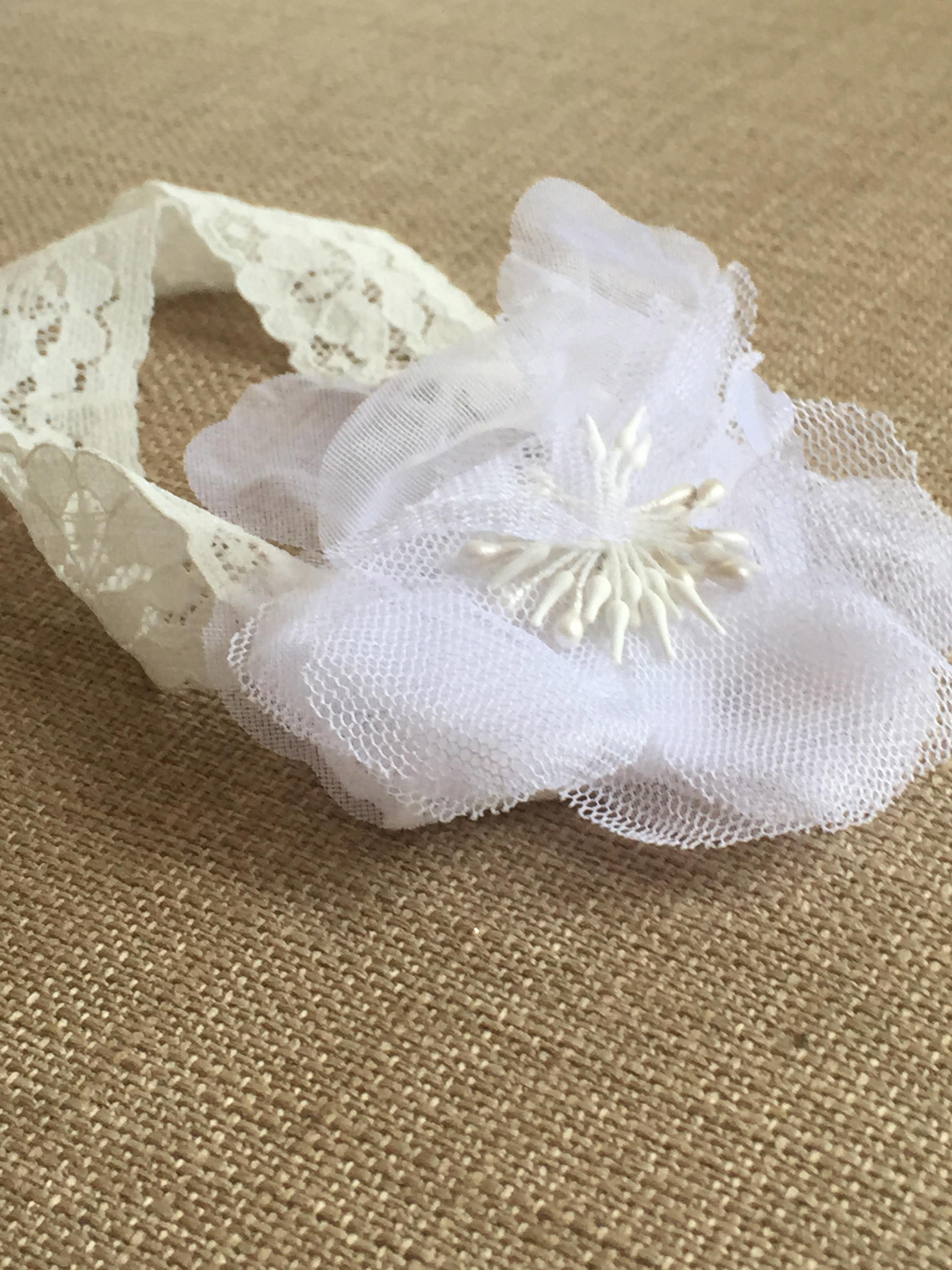 Poppy Headband in White