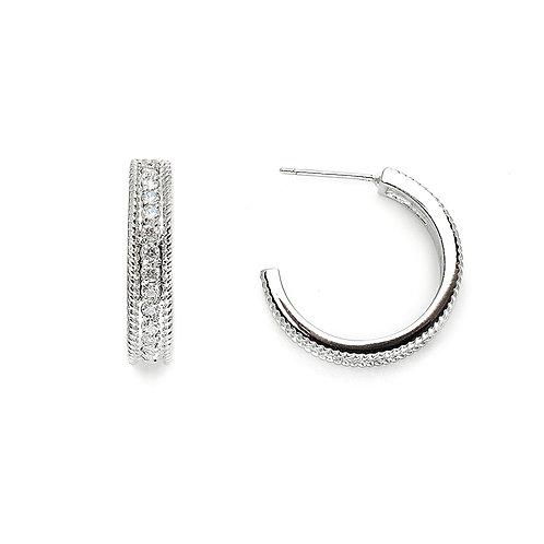Stunning Silver Hoop Earrings