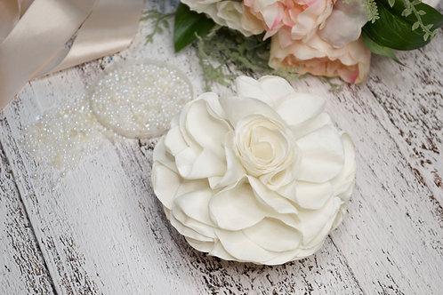 Ivory Silk Rose Bridal Hair Clip
