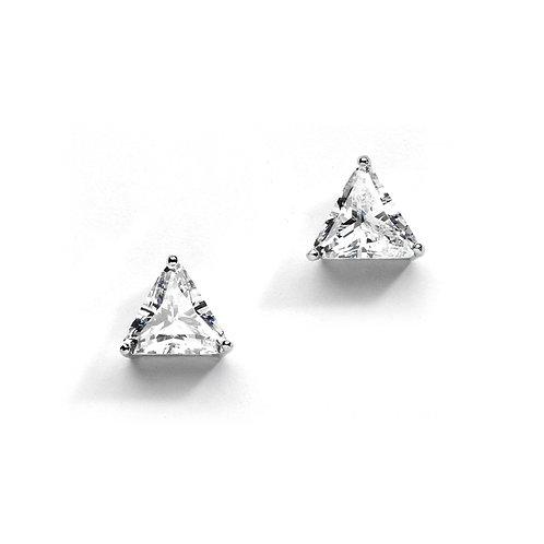 Cubic Zirconia Solitaire Stud Earrings