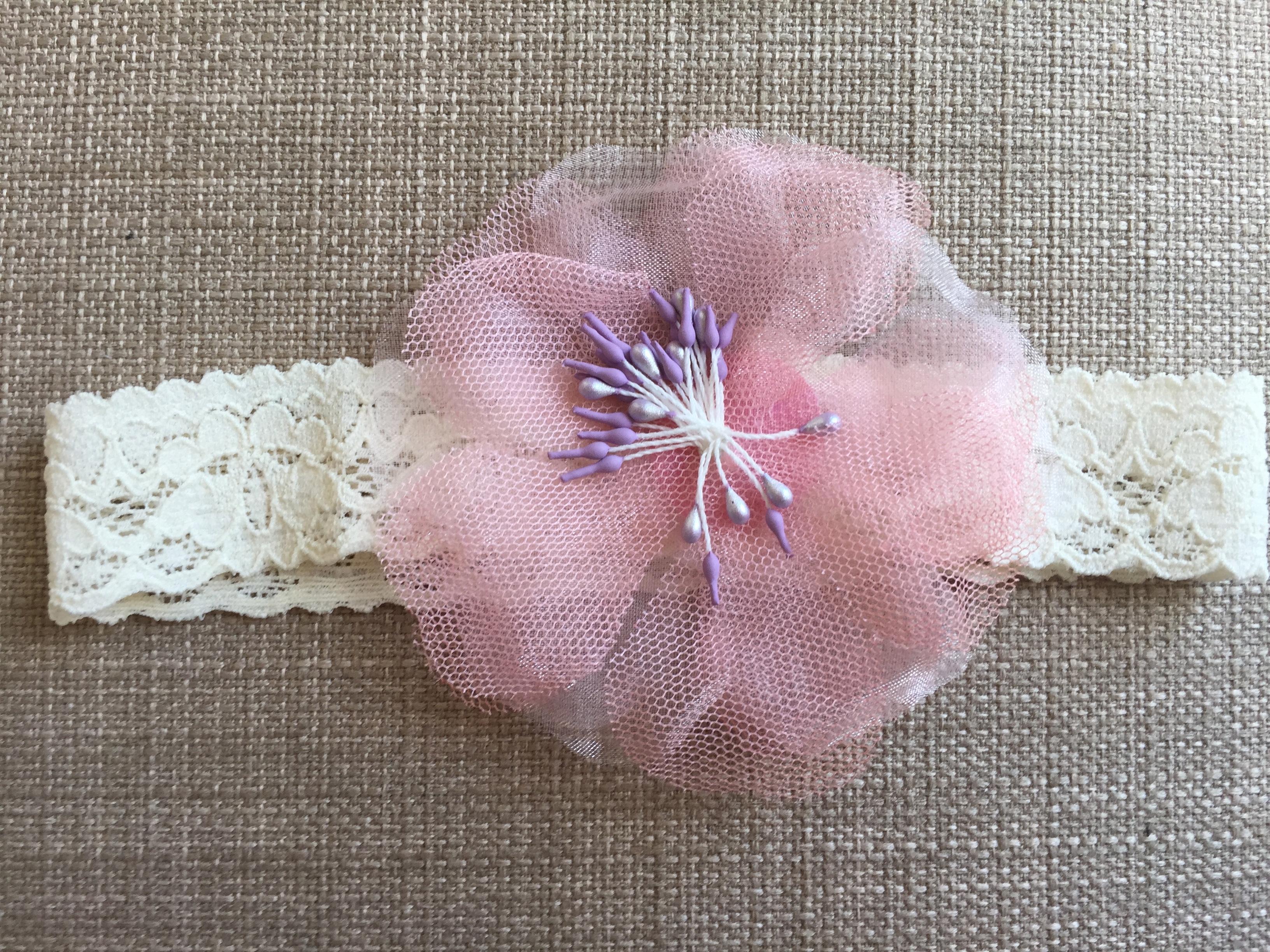Poppy Headband in Pink