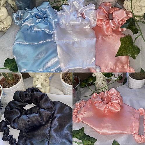 Silk mask & matching scrunchie