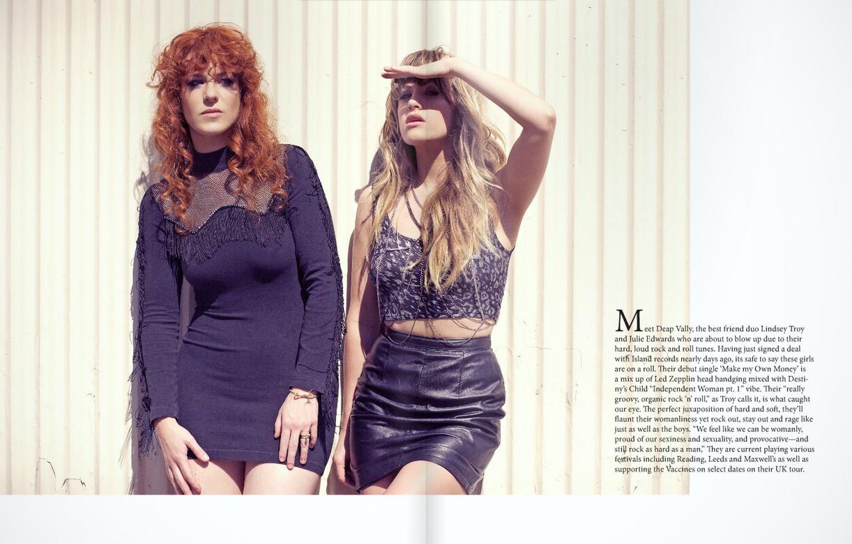 Deap Vally for XO Magazine  by Jesse Ashton Photography