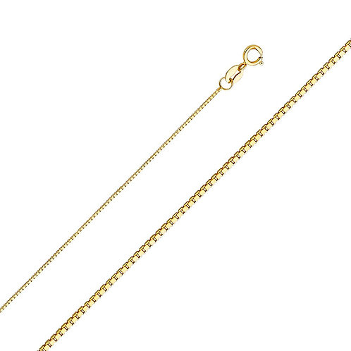 14k Yellow Gold 0.8-mm Box Chain Necklace