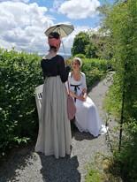 Alessandra et Gabriela en tenue 1800